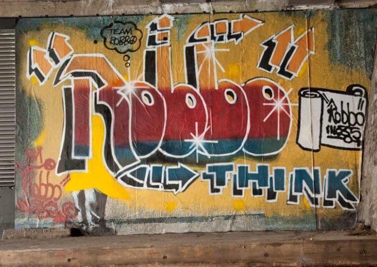 Team Robbo - Restored Mural, December 24, 2011