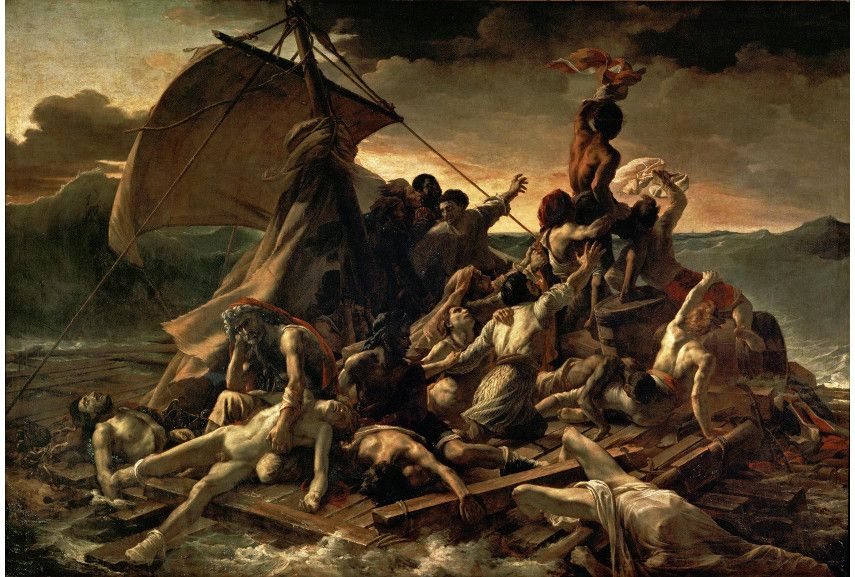 Théodore Géricault - The Raft of the Medusa, 181819 - Image via wikimedia louvre france