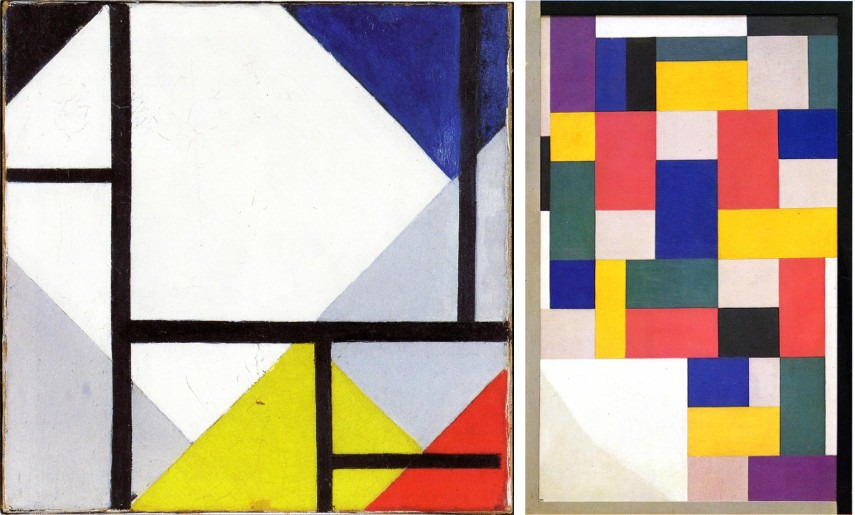 Simultaneous Counter Composition and Pure Painting are pieces that display van Doesburg's artistic versatility