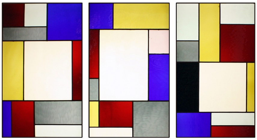 Tripartite Stained Glass Window is a piece that shows Theo did appreciate Mondrian's concepts despite the fights the two had