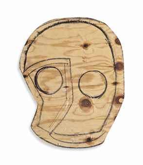 Thomas Houseago-Wood Mask (Owl)-2008