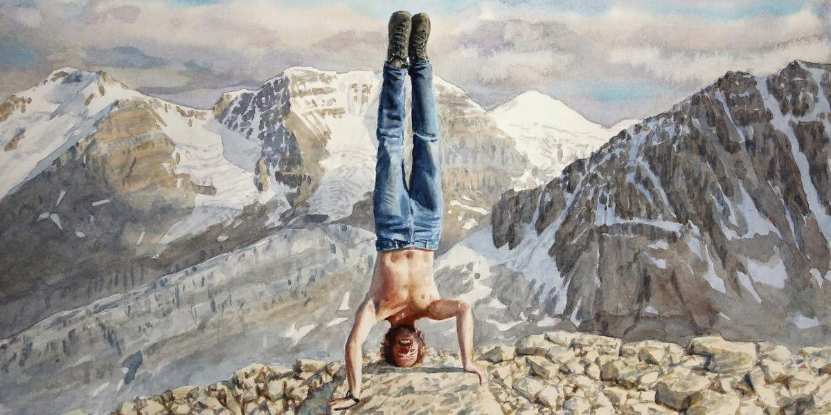 Tim Gardner - Headstand, 2013, contemporary art, watercolor