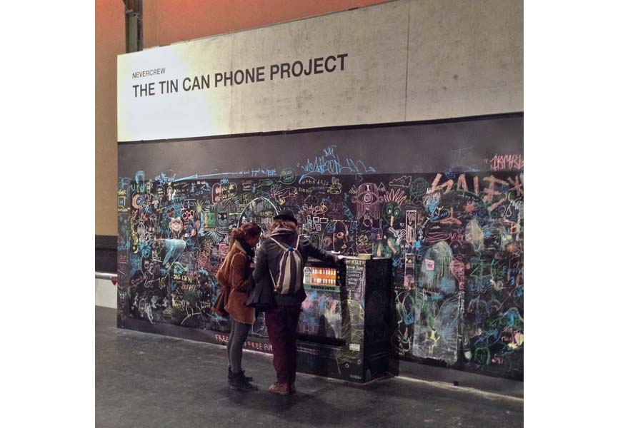 Tin Can Phone Project - Second stage of the termporary interactive installation
