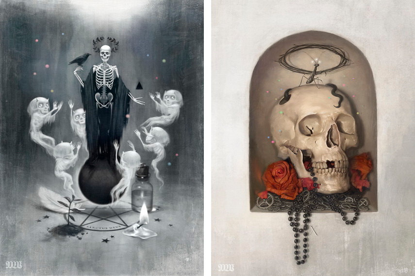The artists moniker is mostlywanted and his limited illustration edition can be found in a virtual shop