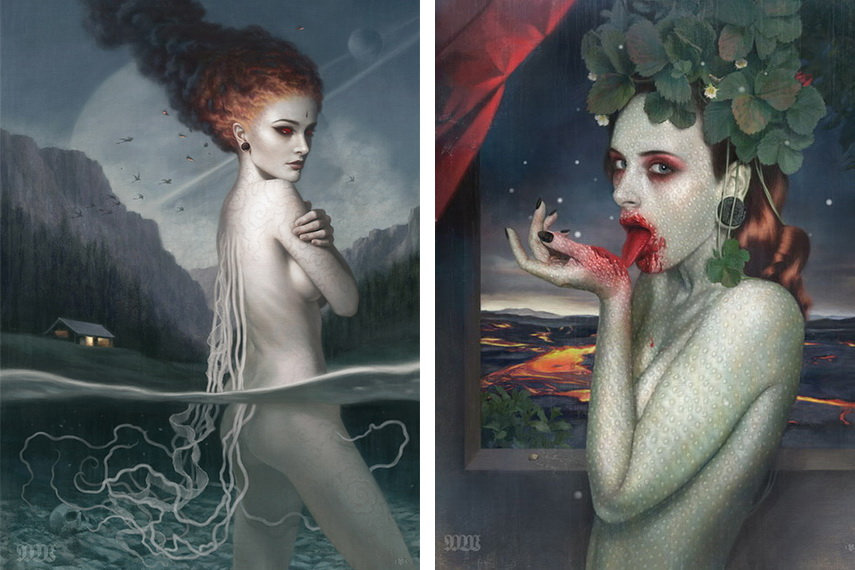 In a little gallery   in London you can find the book with his surreal and dark works