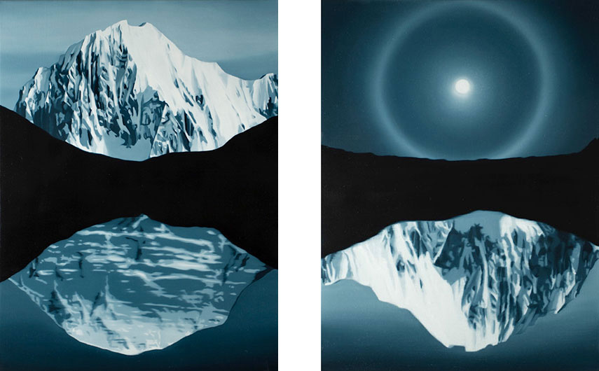Tony Lloyd - Zenith, 2015 (Left) / Sphere, 2015 (Right)