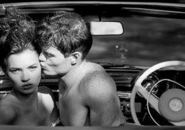 Tony McGee - Kate Moss Photographed in London, In David Hockney's Mercedes Benz 280 Cabriolet, 1988