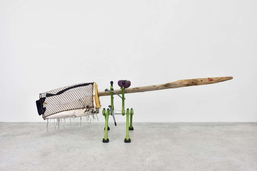 The latest installment in New York Albert Knox covered inches and inches of gallery space.