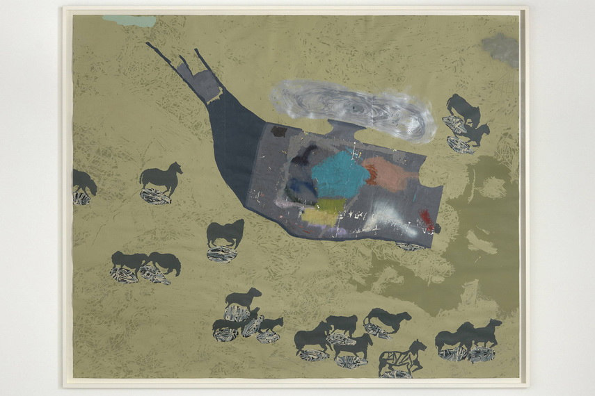 Thronton's modern approach of collage making made him the most burgeoning artist in his home town