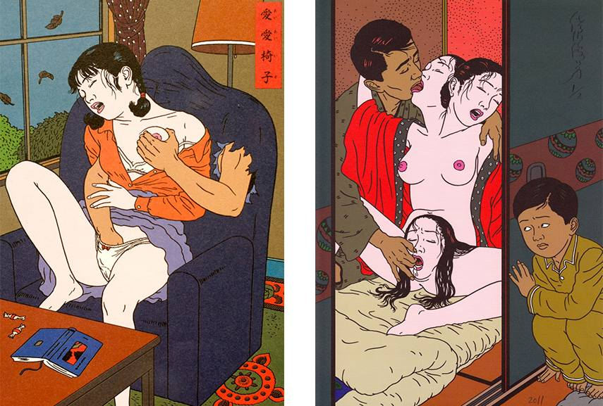 Toshio Saeki is one of those Japanese people whose art print will make you question traditional things you like about Japan