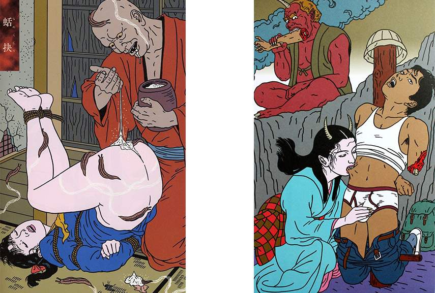 Toshio Saeki new print work in Japan, not the traditional Japanese kind of media people like.