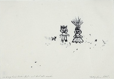 Tracey Emin-Me and My Twin Brother Paul and Dead Cat Mousti-1995