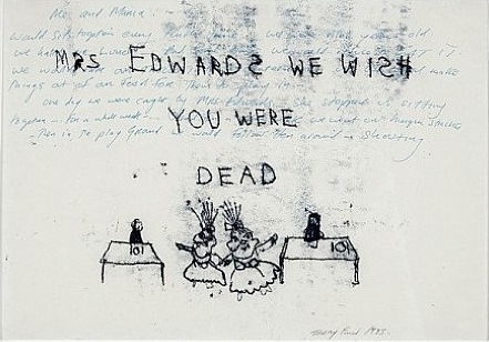 Tracey Emin-Mrs. Edwards We Wish You Were Dead-1995