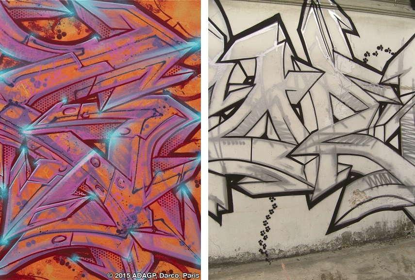 artist daim in hamburg city, germany, view fbi international painting on english news