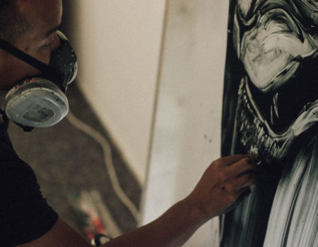 Twoone in the Urban Spree Art Residency - To Paint Under a Good Kind of Pressure