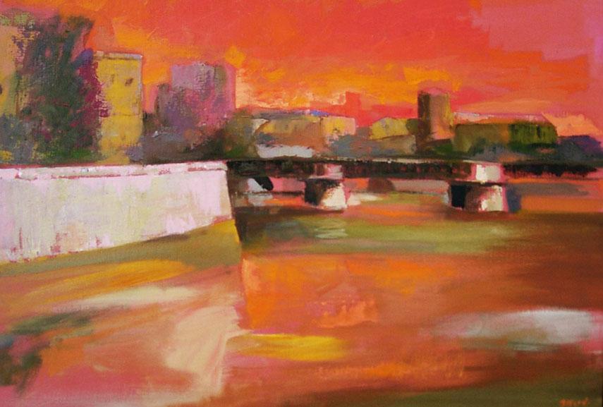 Ugo Attardi - Senza Titolo. Oil on canvas, 50x70cm. Courtesy Camelu art gallery