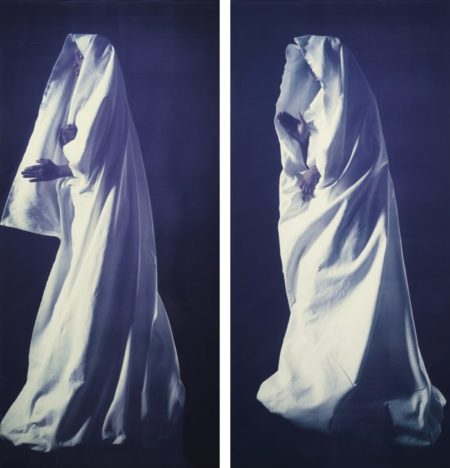 Marina Abramovic-Ulay-Ulay and Marina Abramovic - Untitled (White Robe I And II)-1987