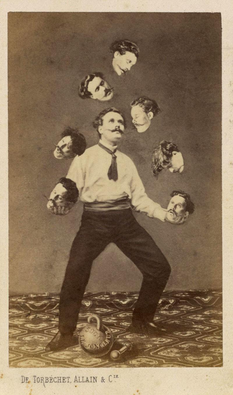 Unidentified artist - Man Juggling His Own Head, c. 1880