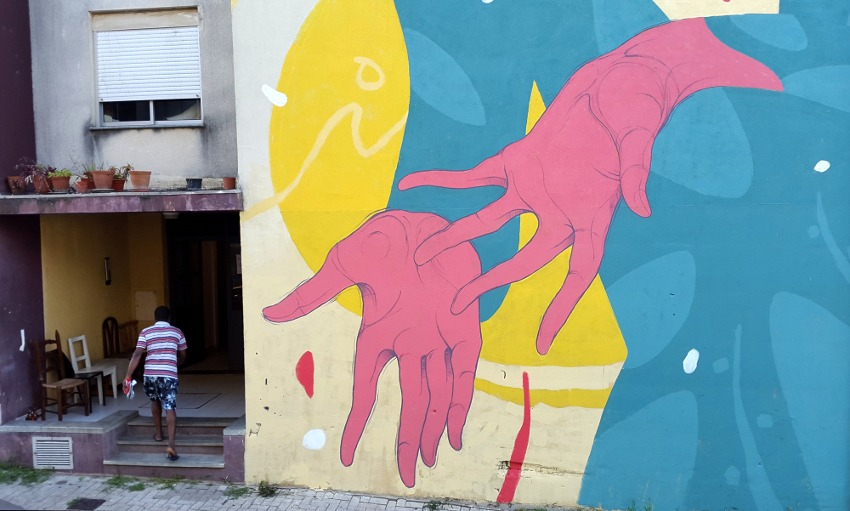 Untay - Saudade (detail), Loures, Portugal, 2016