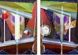Briton Tolliver: Echo Helmet II, 2011, Acrylic on panel (for illustrative purposes)