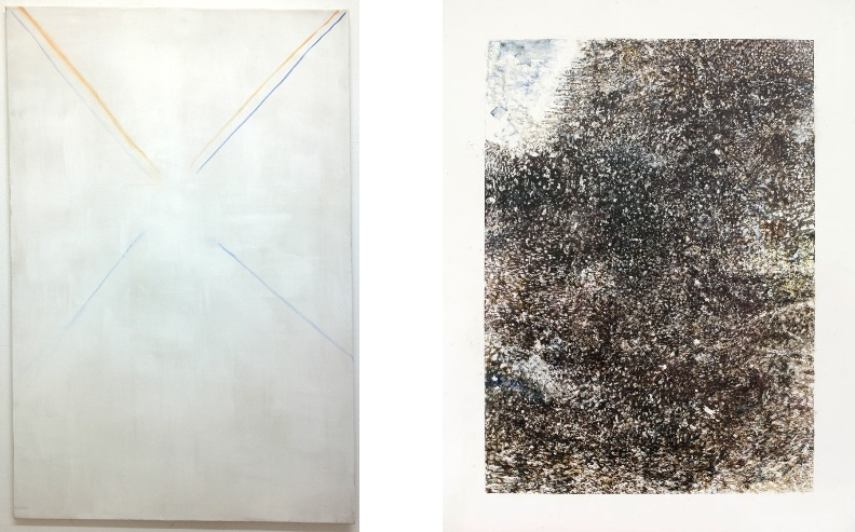 Left: Christine Cheung - Crosses II, 2014 / Right: Alexander Kraut