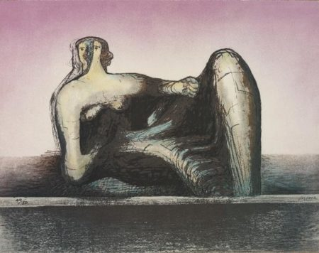 Lynn Chadwick-Henry Moore-Various Artists - One work by Henry Moore; and Two works by Lynn Chadwick-1977
