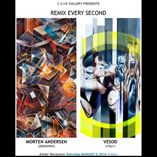Vesod and Morten Andersen - Remix every second exhibition, 2014