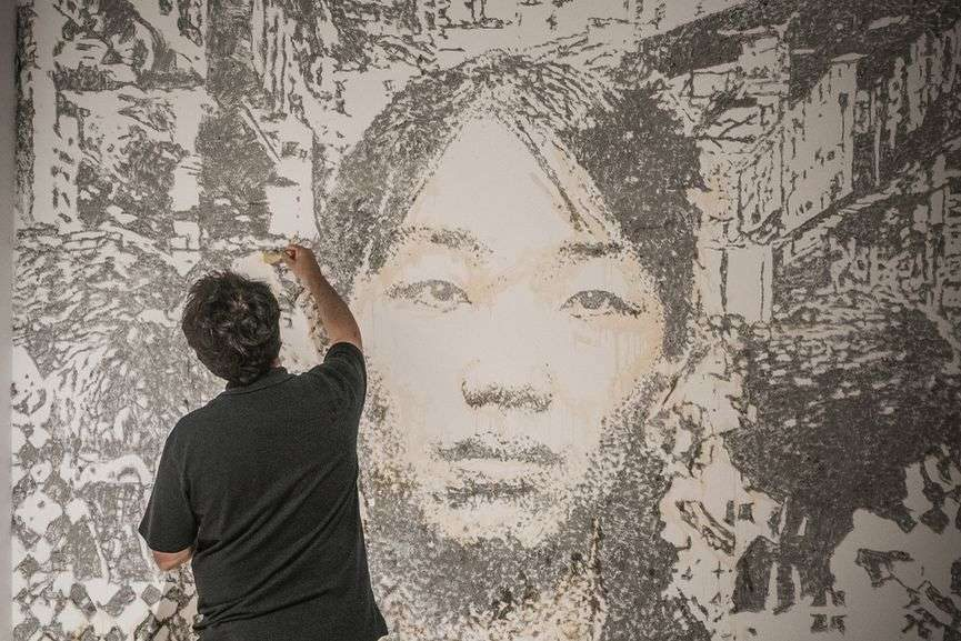 Vhils in Macau, Day 3