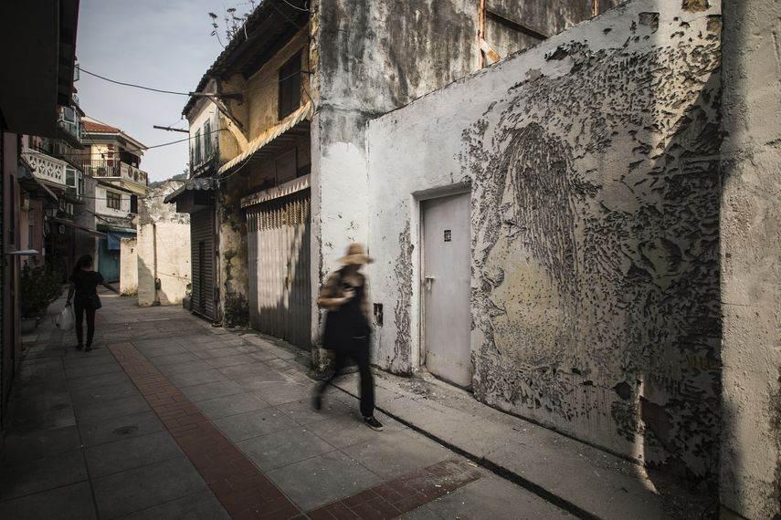 Vhils in Macau
