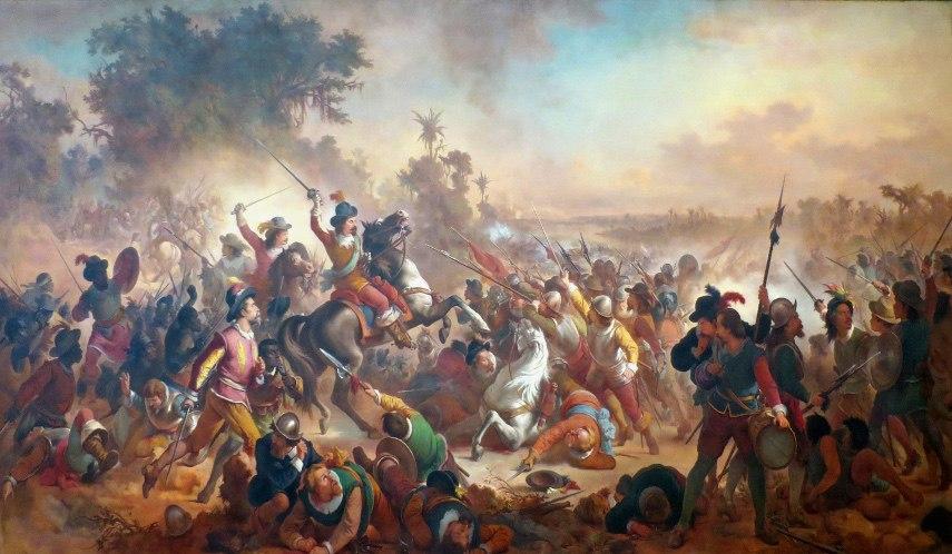 Victor Meirelles - Battle of Guararapes, 1879 - Image via wikimediaorg
