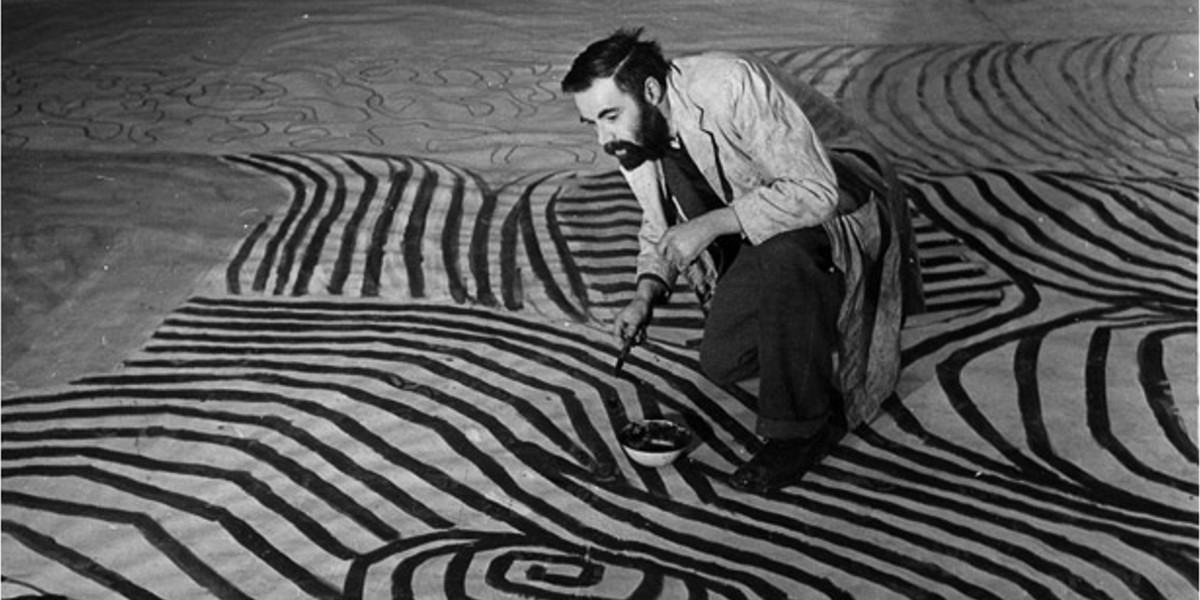 Victor Pasmore at work, 1951, abstract art