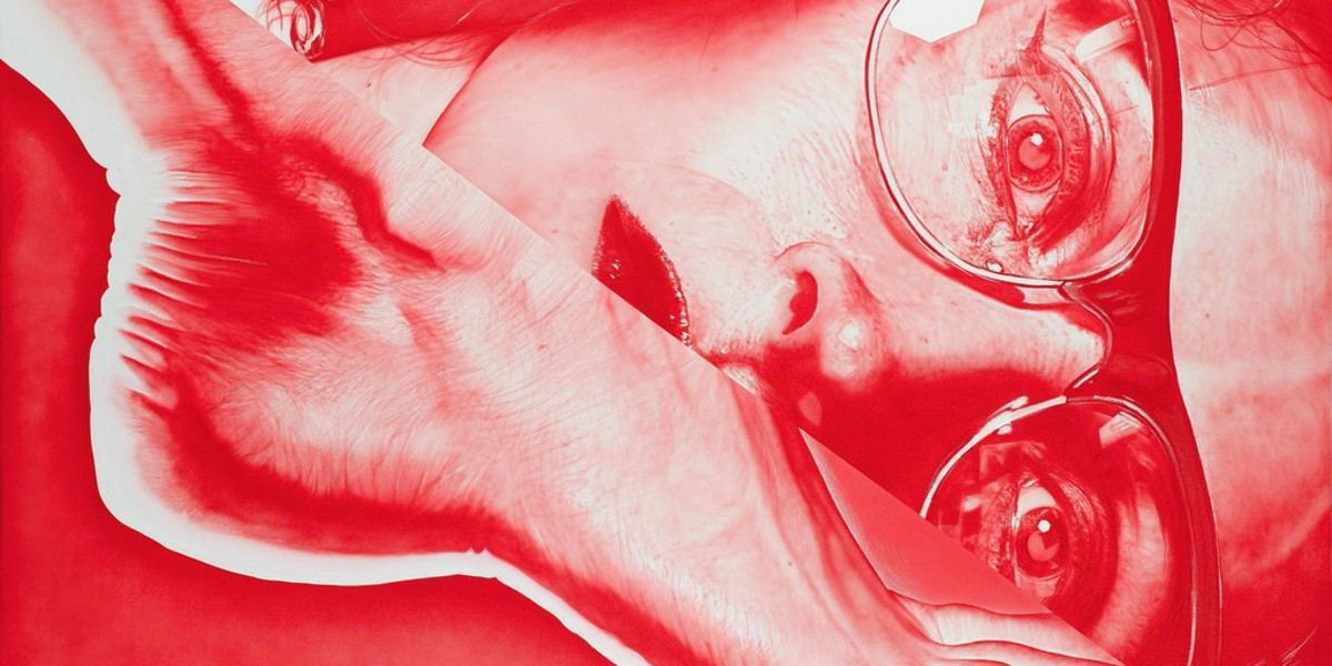 Victor Rodriguez - Red 2T Foot-Glasses (detail), 2013