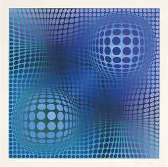 Victor Vasarely-Feny, from Hommage a Picasso-1974