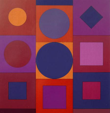 Victor Vasarely-Granat 1967-1967