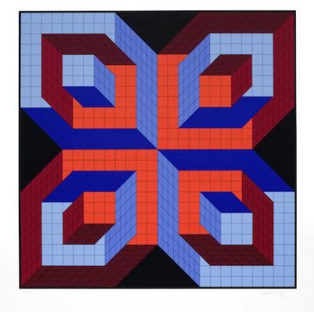 Victor Vasarely-Idom-stri-1987