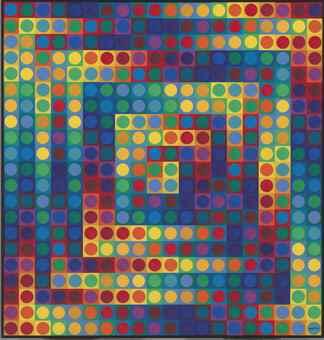 Victor Vasarely-Kanta Majus A-1970