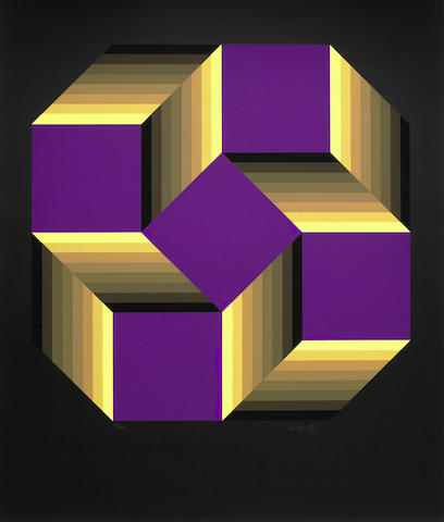 Victor Vasarely-Malom Large, Malom Petit-1978