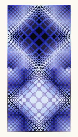 Victor Vasarely-Meta 2, from Album Meta-1976