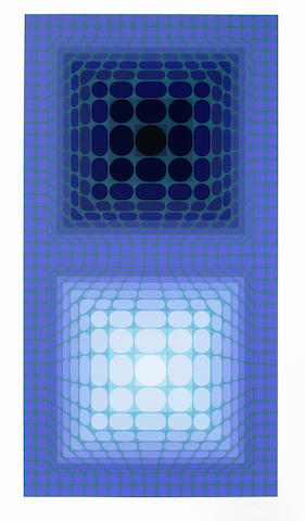 Victor Vasarely-Meta 4, from Album Meta-1976