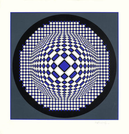 Victor Vasarely-Octa & Untitled-