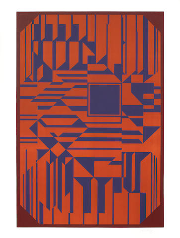 Victor Vasarely-Untitled (after Samos)-