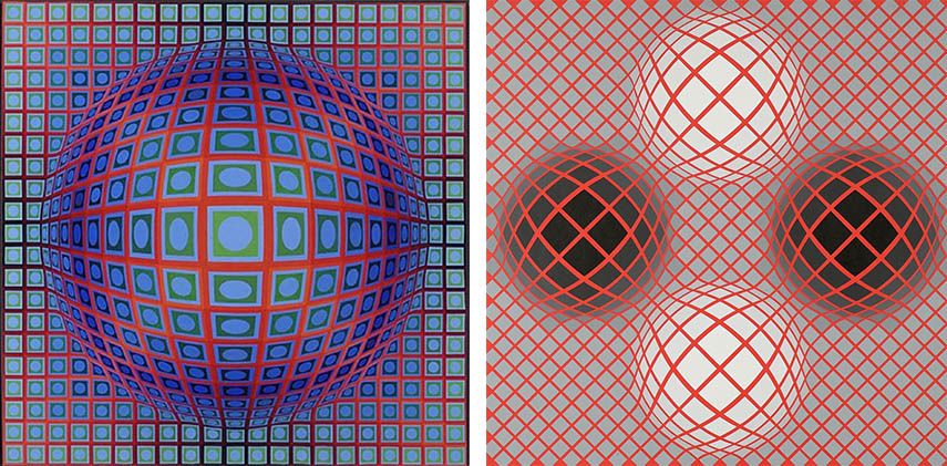 vasarely victor Victor Vasarely - Vega 201,1968 Victor (Left) / Halo Victor 1984 (Right) - images via pinterest.com