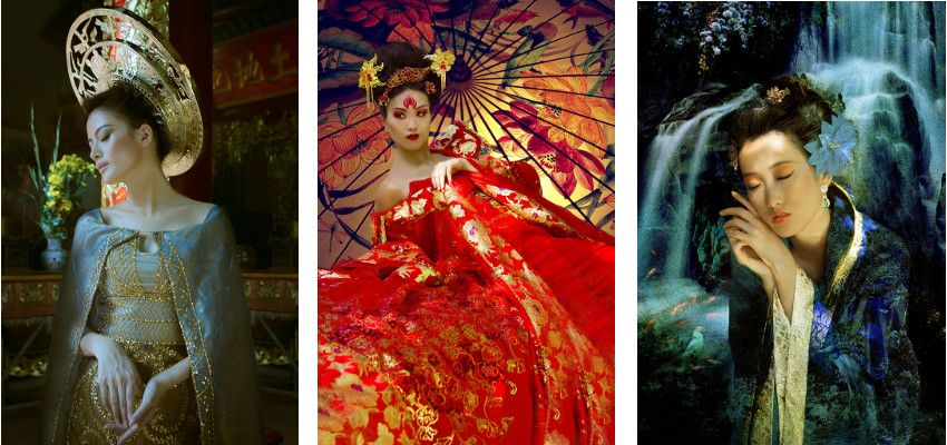 Viet Ha Tran - The Golden Imprint, 2014 / Xian: Myths of the Beauties, Yang Guifei, 2015 / Xian: Myths of the Beauties, Xishi, 2015