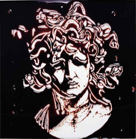Vik Muniz-Medusa after Bernini (Picture of Chocolate)-2003
