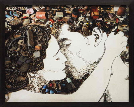 Vik Muniz-The Kiss (from Pictures of Junk)-2010
