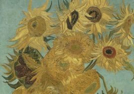 Sunflowers, 1888-89 (detail), Philadelphia Museum of Art