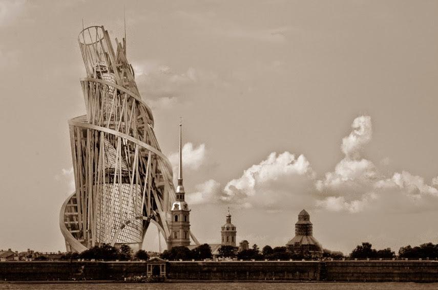 Vladimir Tatlin - The Design for the Tower of the Third Internationale - Image via roadstothegreatwarrs