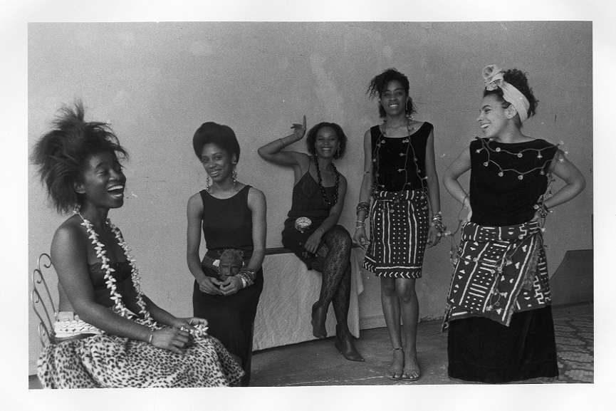 Lorna Simpson (American, born 1960). Rodeo Caldonia (Left to Right: Alva Rogers, Sandye Wilson, Candace Hamilton, Derin Young, Lisa Jones), 1986. Photographic print, 8 x 10 in. (20.3 x 25.4 cm). Courtesy of Lorna Simpson. © 1986 Lorna Simpson