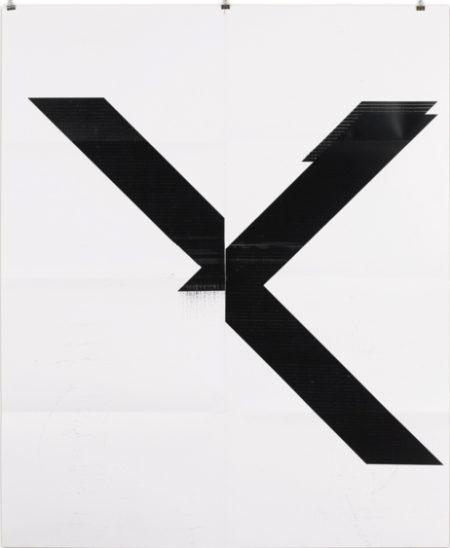 Wade Guyton-X Poster (Untitled 2007 Epson Ultrachrome Inkjet On Linen 84 X 69 In Wg1999)-2015