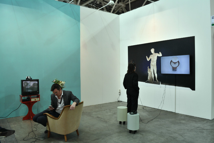 Walburger Wouters with Eli Cortinas and Lynn Hershman Leeson